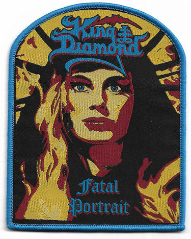 King Diamond Fatal Portrait Woven Patch - Blue Border
