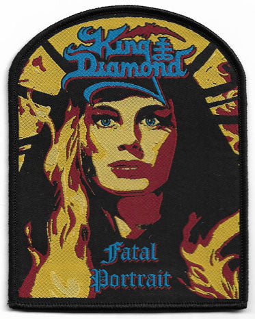 King Diamond Fatal Portrait Woven Patch - Black Border