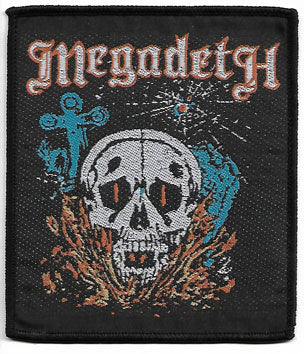 Megadeth Skull Woven Patch