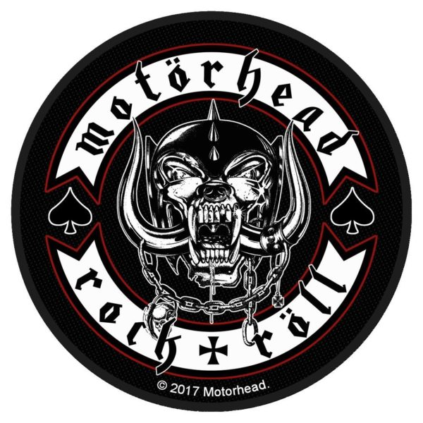 Motorhead Rock + Roll Round Woven Patch