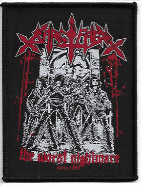 Sarcofago The Worst Nightmare Woven Patch