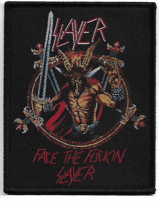 Slayer Face The Fuckin Slayer Woven Patch