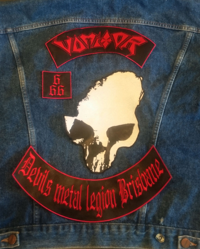 Vomitor Faux Leather Backpatch Set