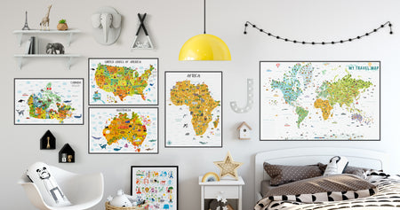 maps for kids, world map for kids, canada map, usa map, africa map, australia map