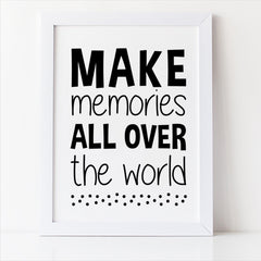make memories all over the world free printable nursery decor