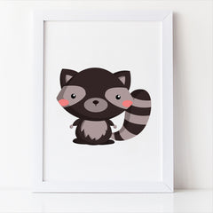 woodland nursery decor raccoon free printable