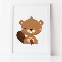 woodland nursery decor beaver free printable