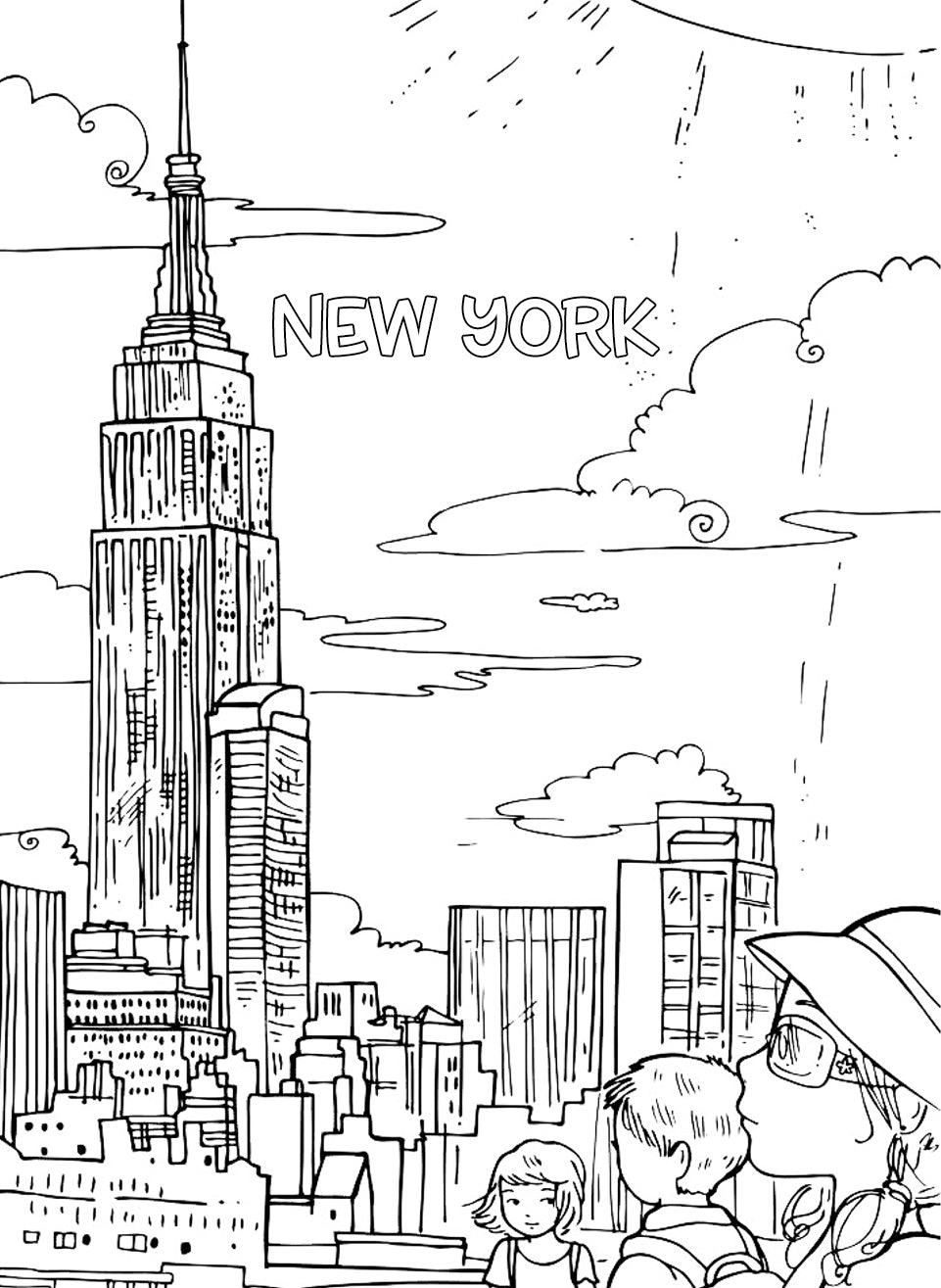 11 Free Travel Inspired Coloring Pages for Kids Pictureta