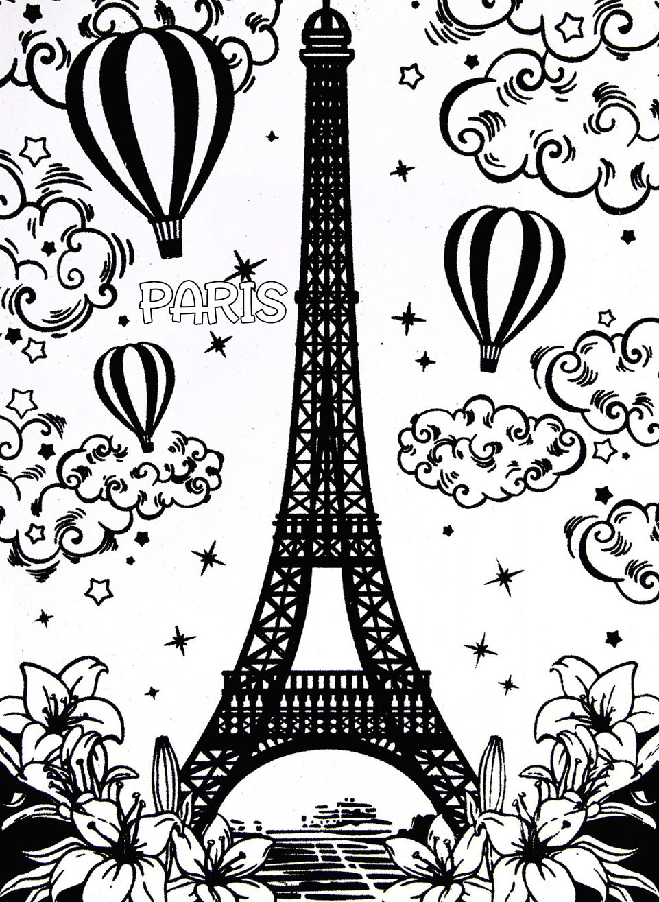 New Eiffel Tower Coloring Page 91 For Pages Kids Online