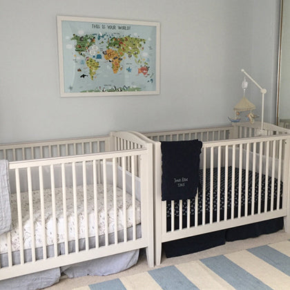 nursery decor for twins by pictureta.com