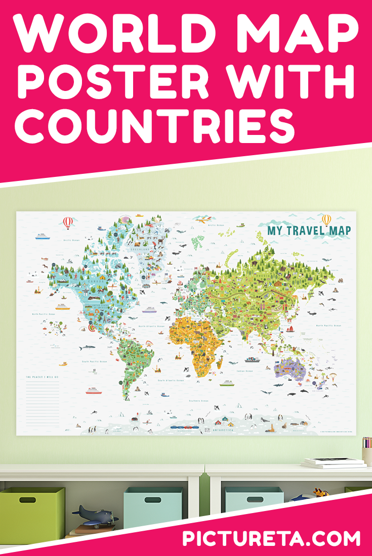 Maps for kids 6 awesome maps to make geography for kids fun this world map poster for kids with countries is amazing and nothing like ive gumiabroncs Image collections
