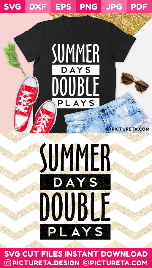 Baseball Mom Svg, Baseball svg, Summer Days Double Plays SVG, Mom Life SVG file will let you create an awesome t-shirt for mom. Cut files, SVG for cricut, silhouette camoe, DXF, PNG, EPS, PDF, JPG, DIY vinyl decals. Download & Create at PICTURETA.COM | Baseball Mom svg, Mom Life svg, Baseball svg, Mom svg, Baseball Shirt svg, INSTANT DOWNLOAD, Svg files for Cricut, SVG, Baseball mama svg