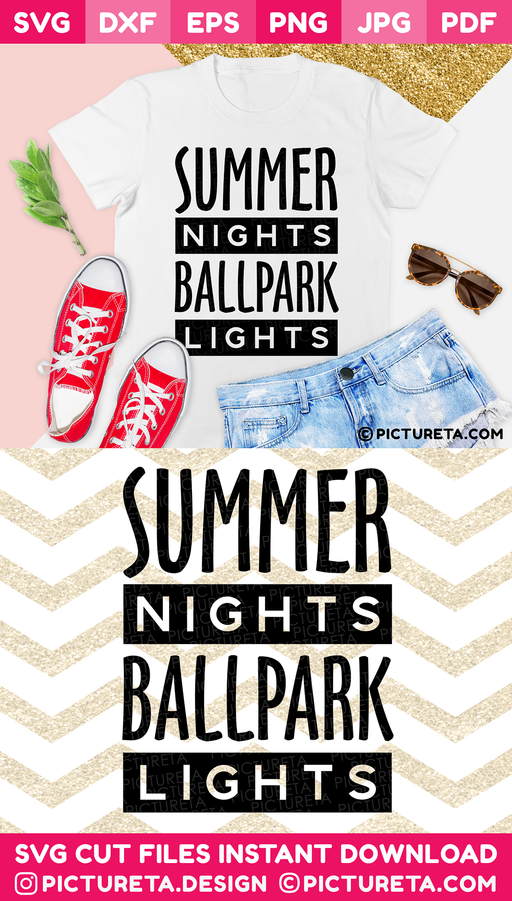 Summer svg, Baseball svg, Summer Nights Ballpark Lights SVG, Baseball Mom Svg, Mom Life SVG file will let you create an awesome t-shirt for mom. Cut files, SVG files for cricut, silhouette camoe, DXF, PNG, EPS, PDF, JPG, DIY vinyl decals. Download & Create at PICTURETA.COM | Baseball Mom svg, Mom Life svg, Baseball svg, Summer svg, Mom svg, Baseball Shirt svg, INSTANT DOWNLOAD, Svg files for Cricut, SVG, Baseball mama svg