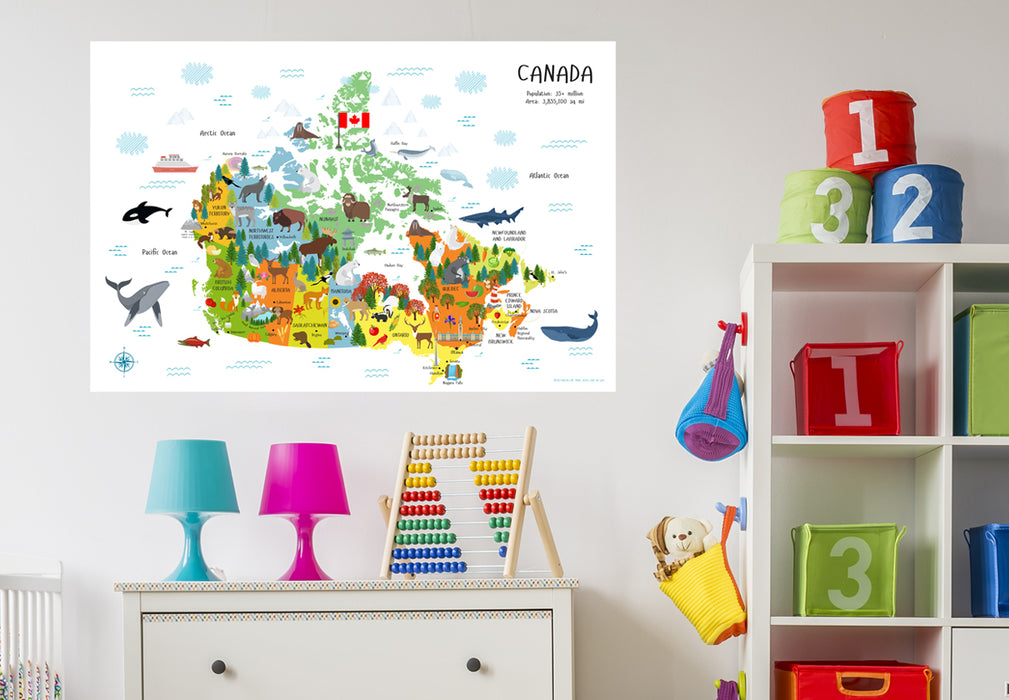nursery decor, kids room decor, map of canada, printables for kids,