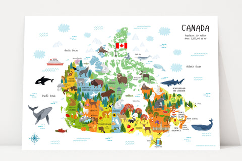 Printable Canada Map for Kids | Instant Download
