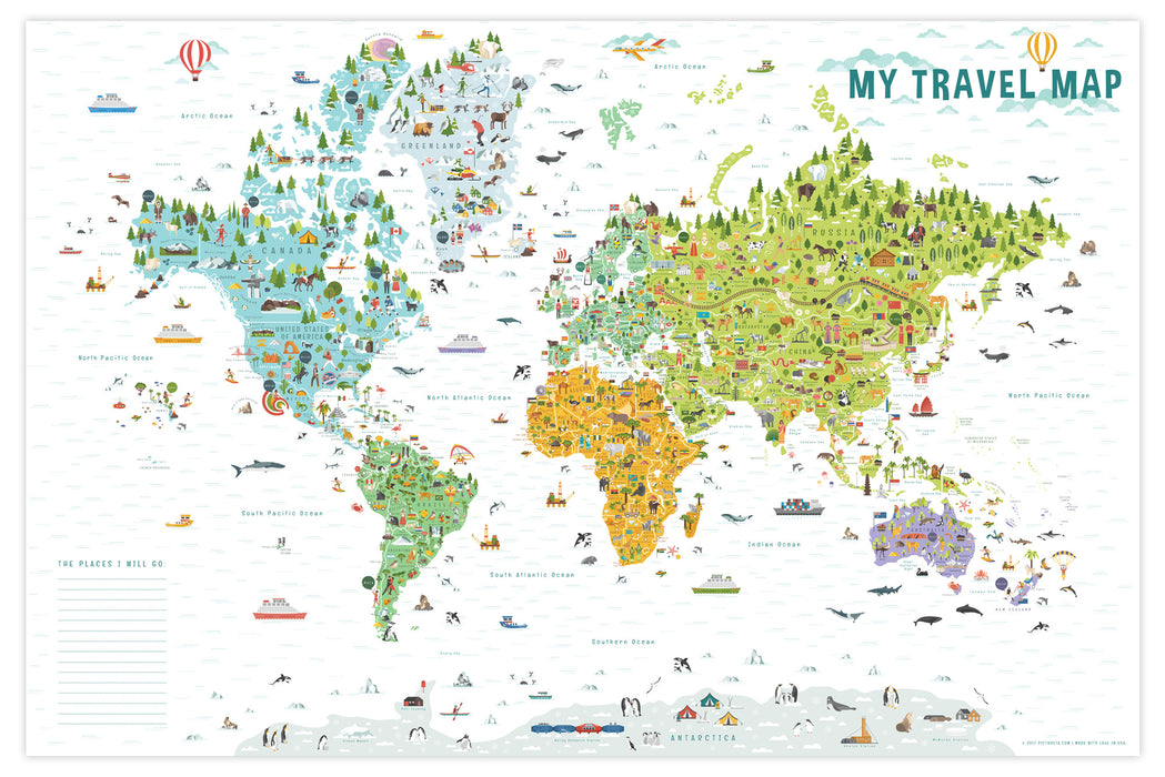 Printable World Map for Kids   Travel Map for Kids   Pictureta.com