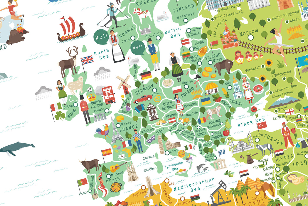 Interactive World Map for Kids - Travel World Map - Geography for ...