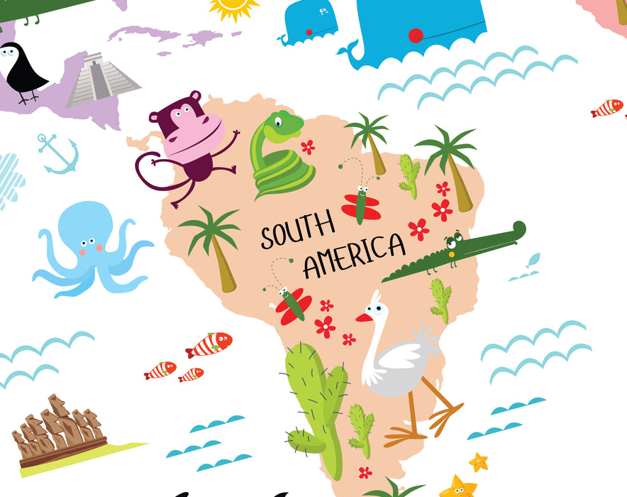 Printable Map of The World For Kids