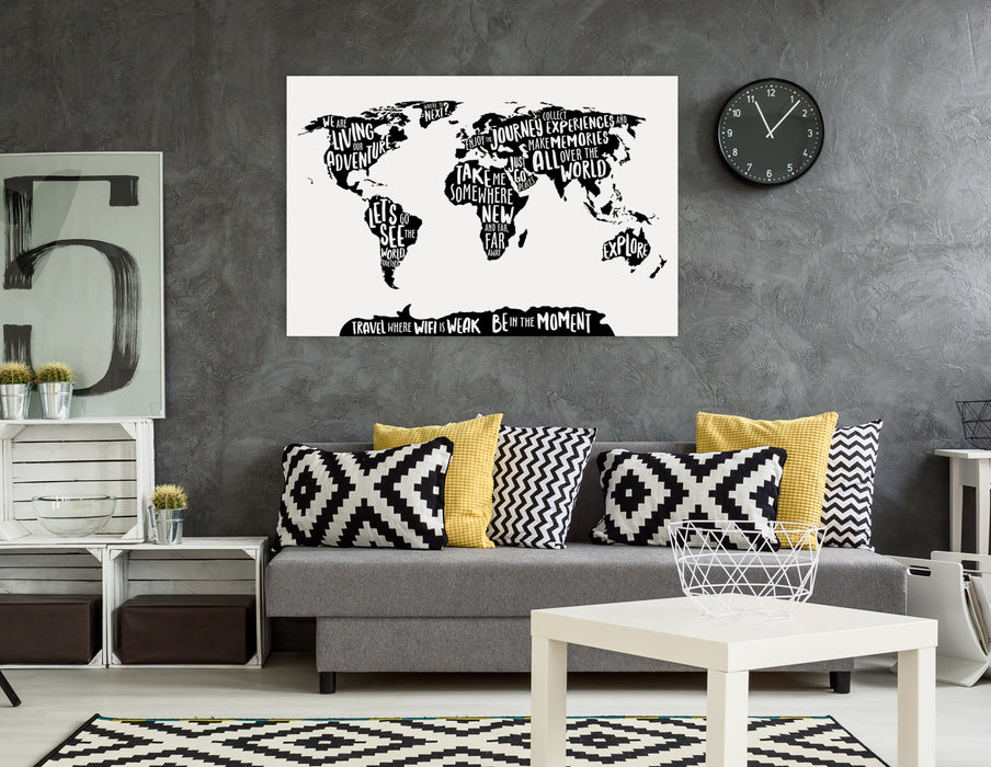 World map printable printable wall art digital download pictureta living room art world map typography world map wall decor instant download gumiabroncs Image collections