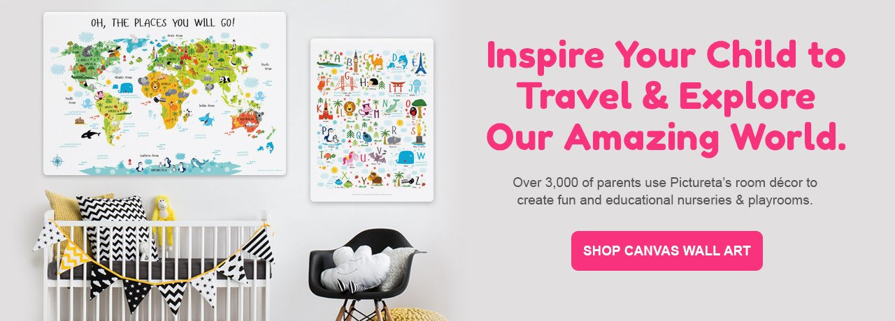 My Travel Map, Interactive Travel World Map for Kids, Unique Gifts for Kids