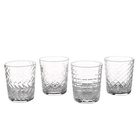 Tumbler Clear Cuttings Set of 4