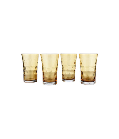 Amber Water Glass Set of 4