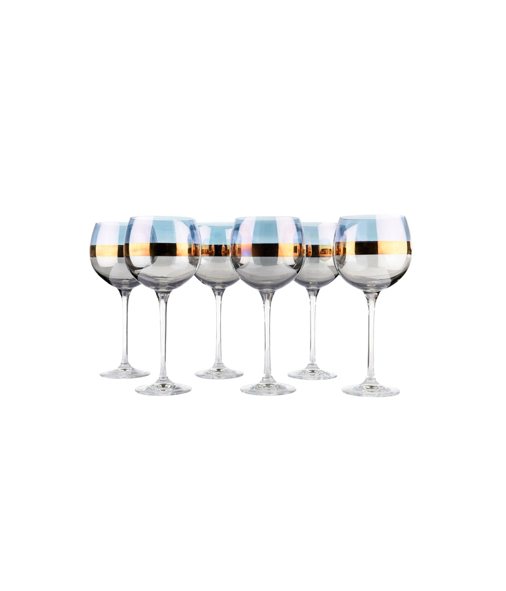 Bangle Balloon Glass Blueberry Set of 6