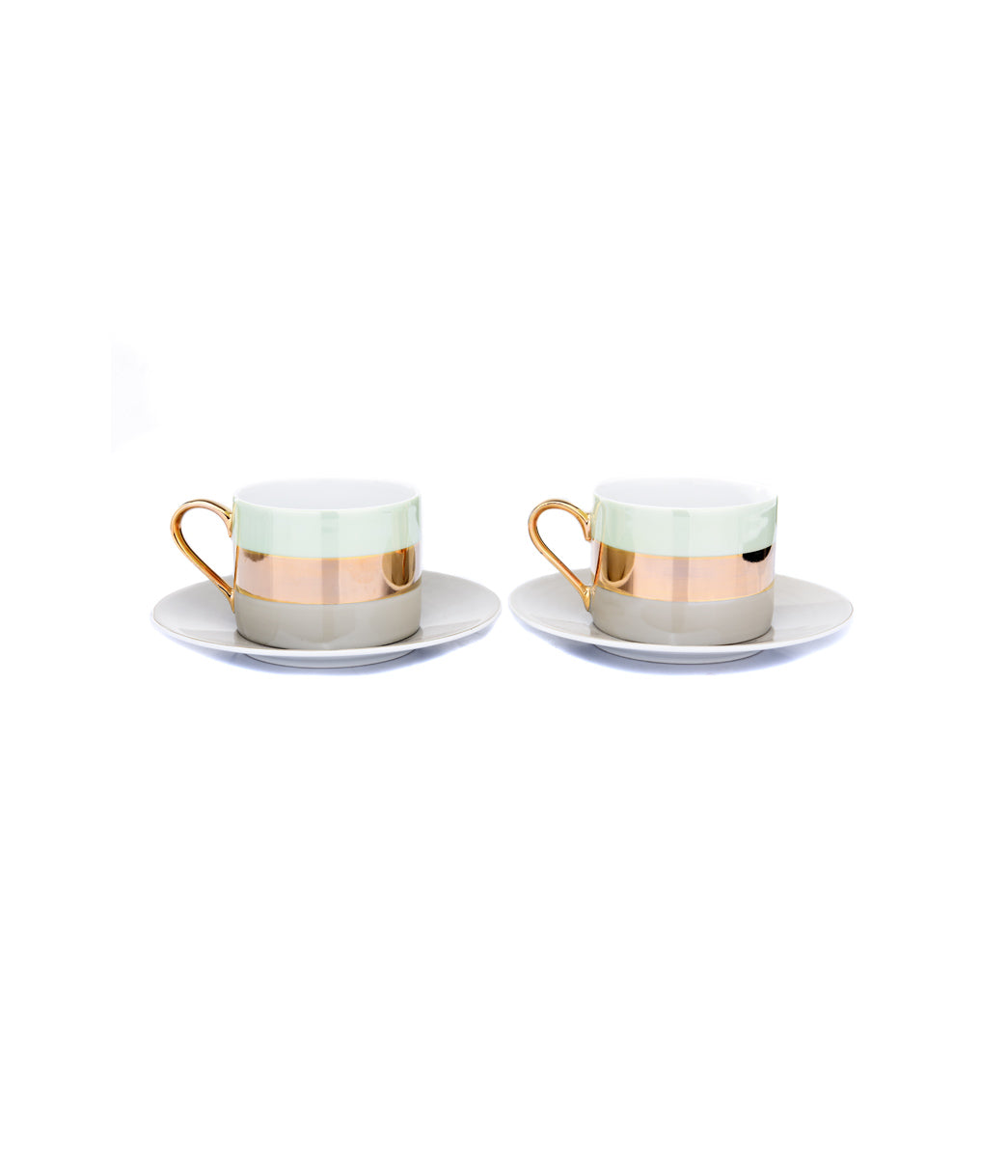 Bangle Tea-Cup /saucers S/2