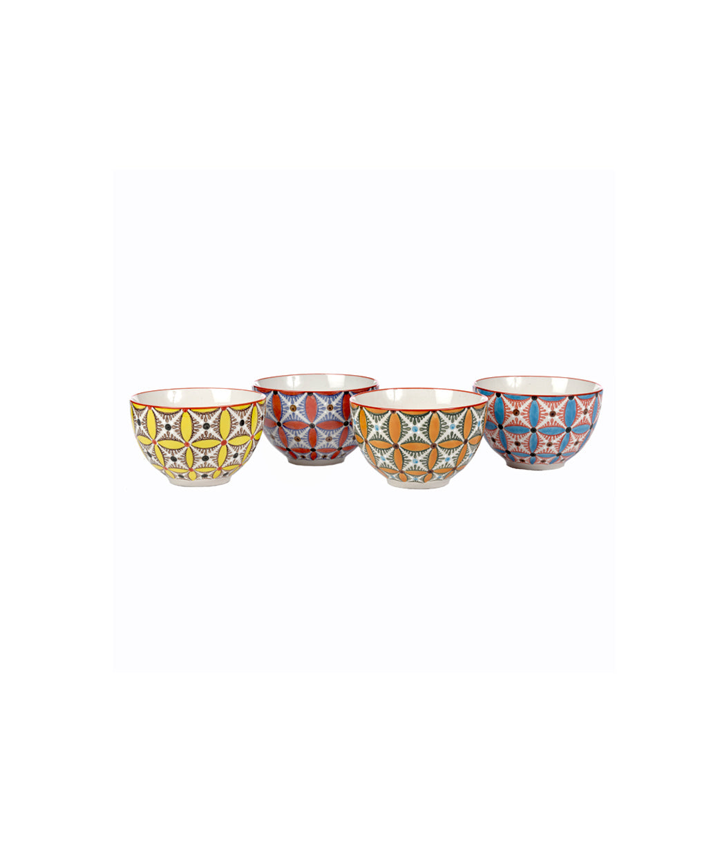 Bowls colour hippy set4