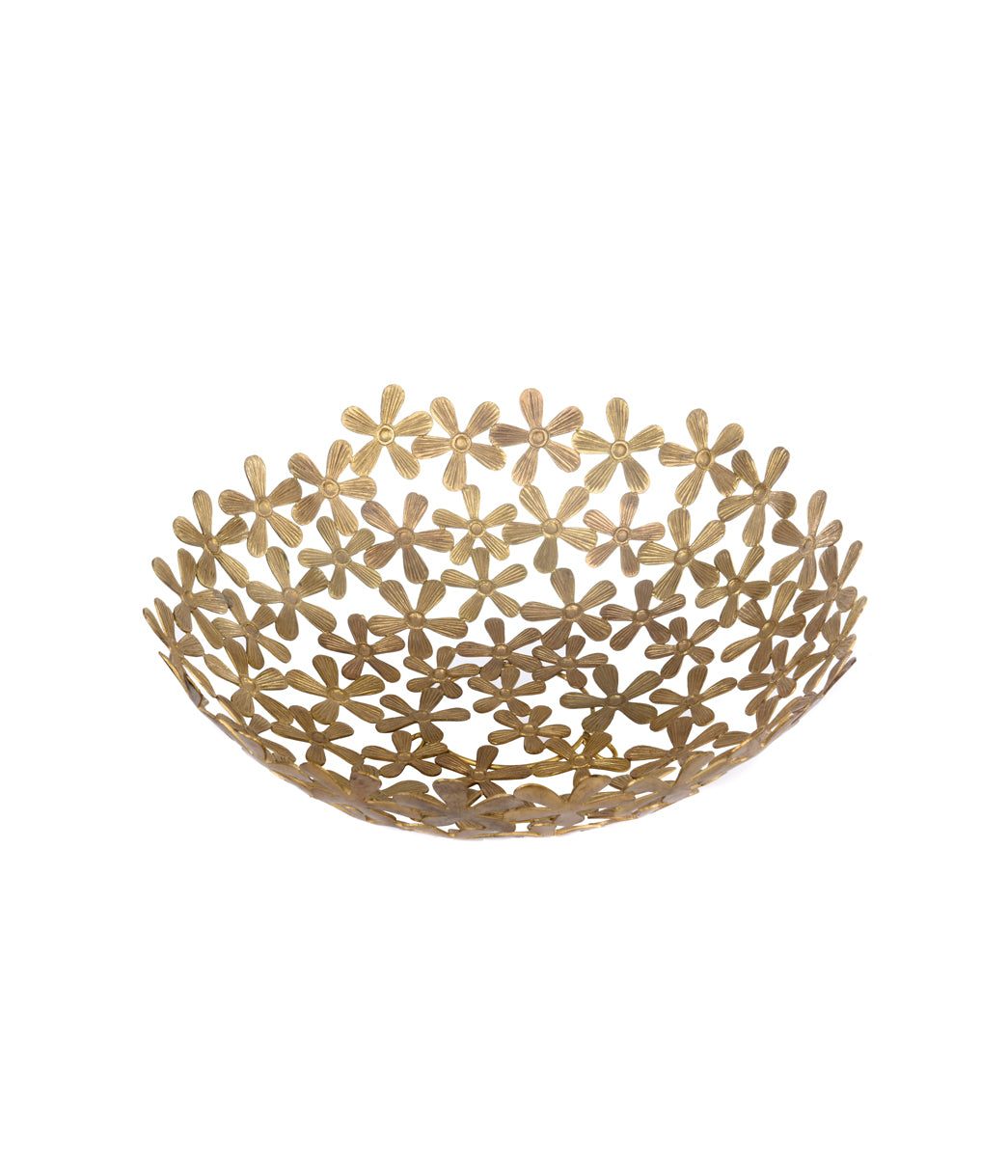 Flower Basket Gold