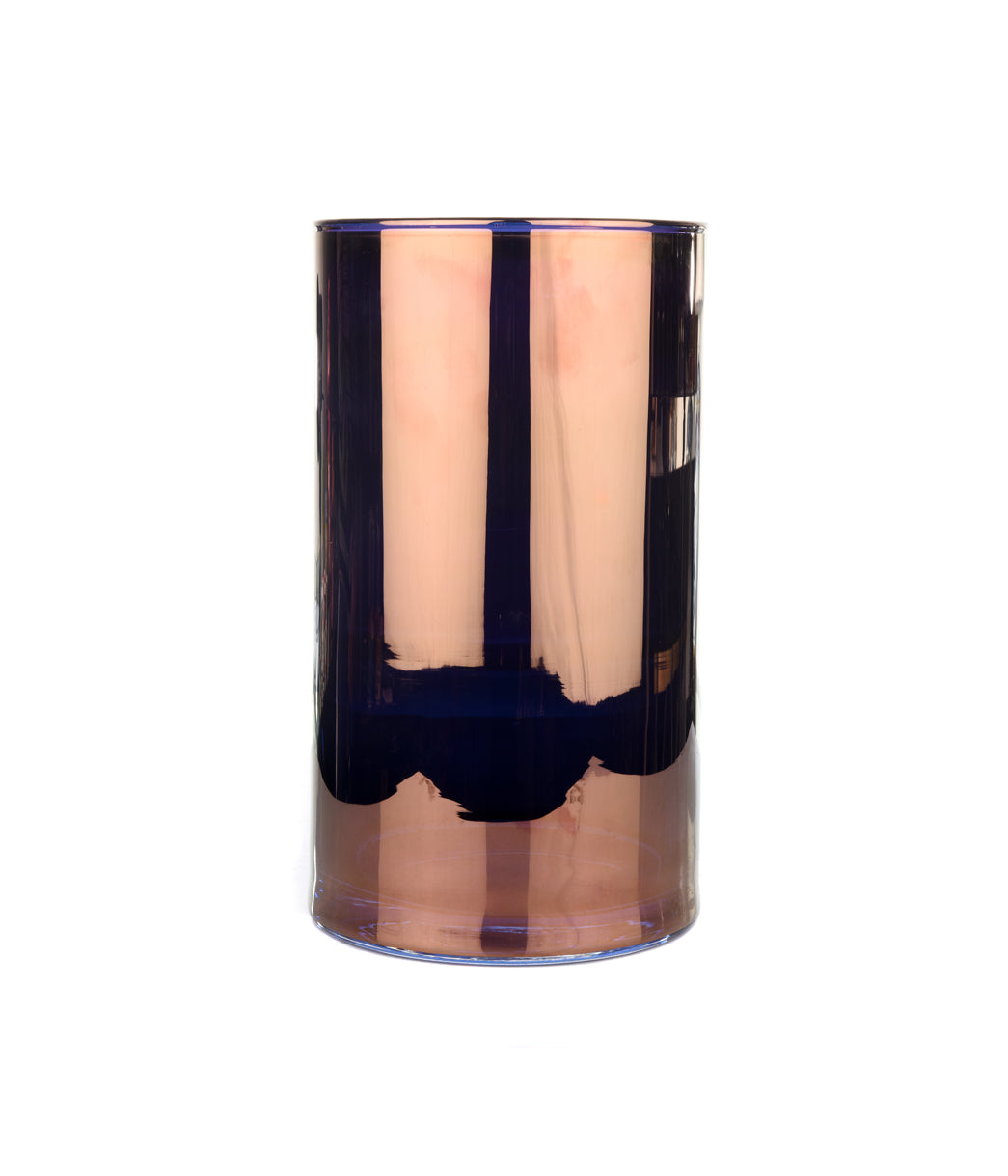 Flower Mettalic Cylinder Copper