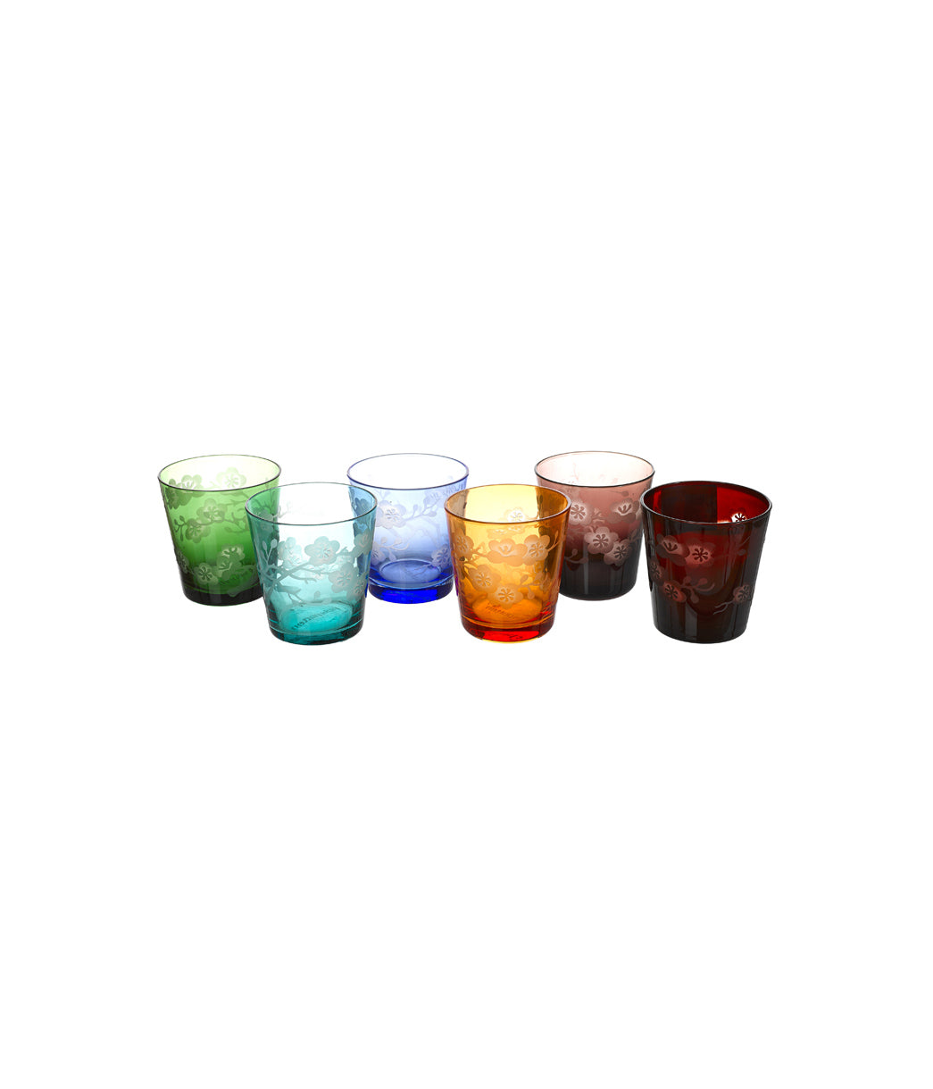 Glass Blossom Set of 6