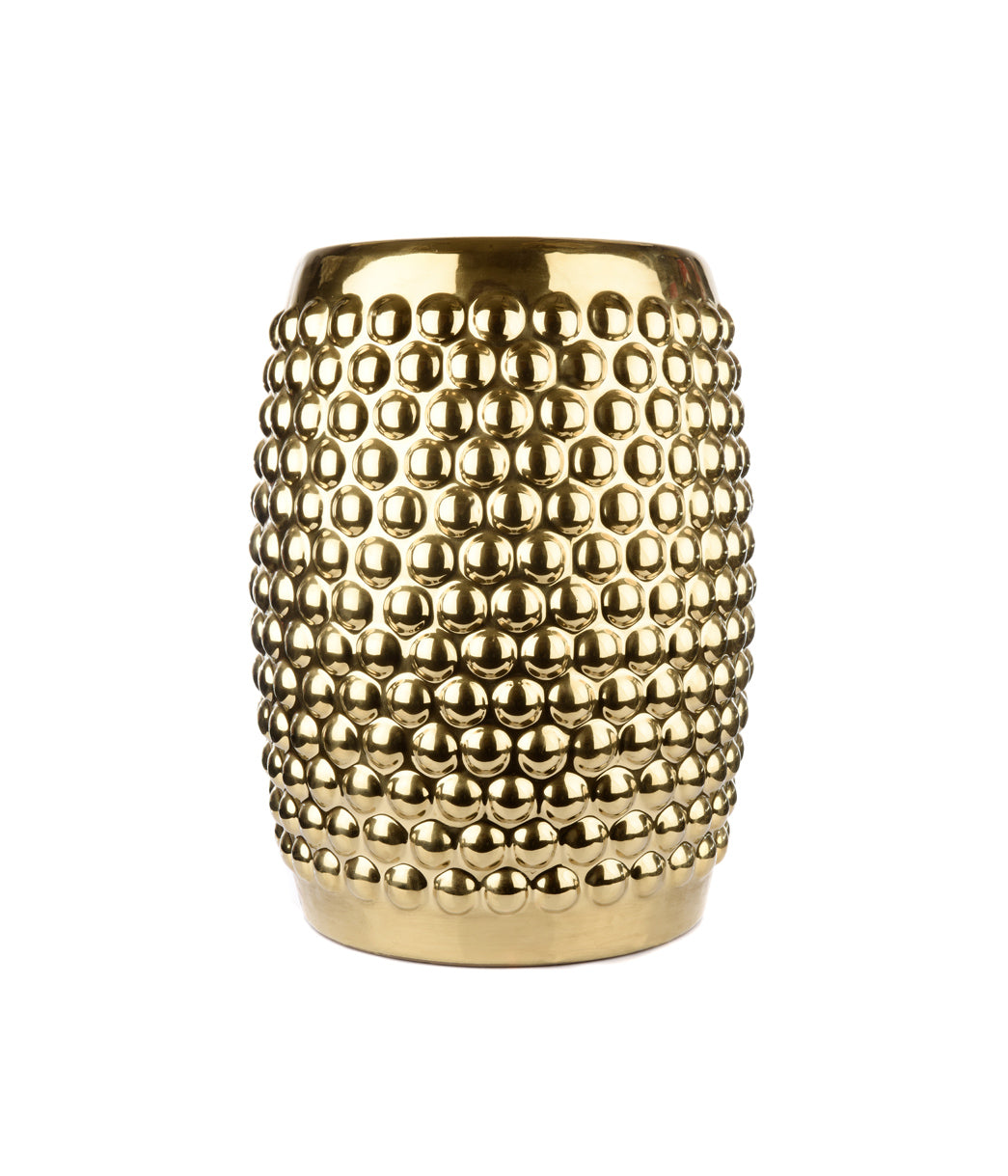 Gold Dotted ceramic stool