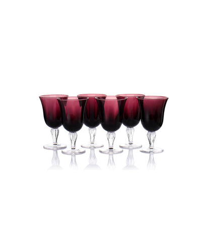 Jaspal Purple Goblet Set of 6