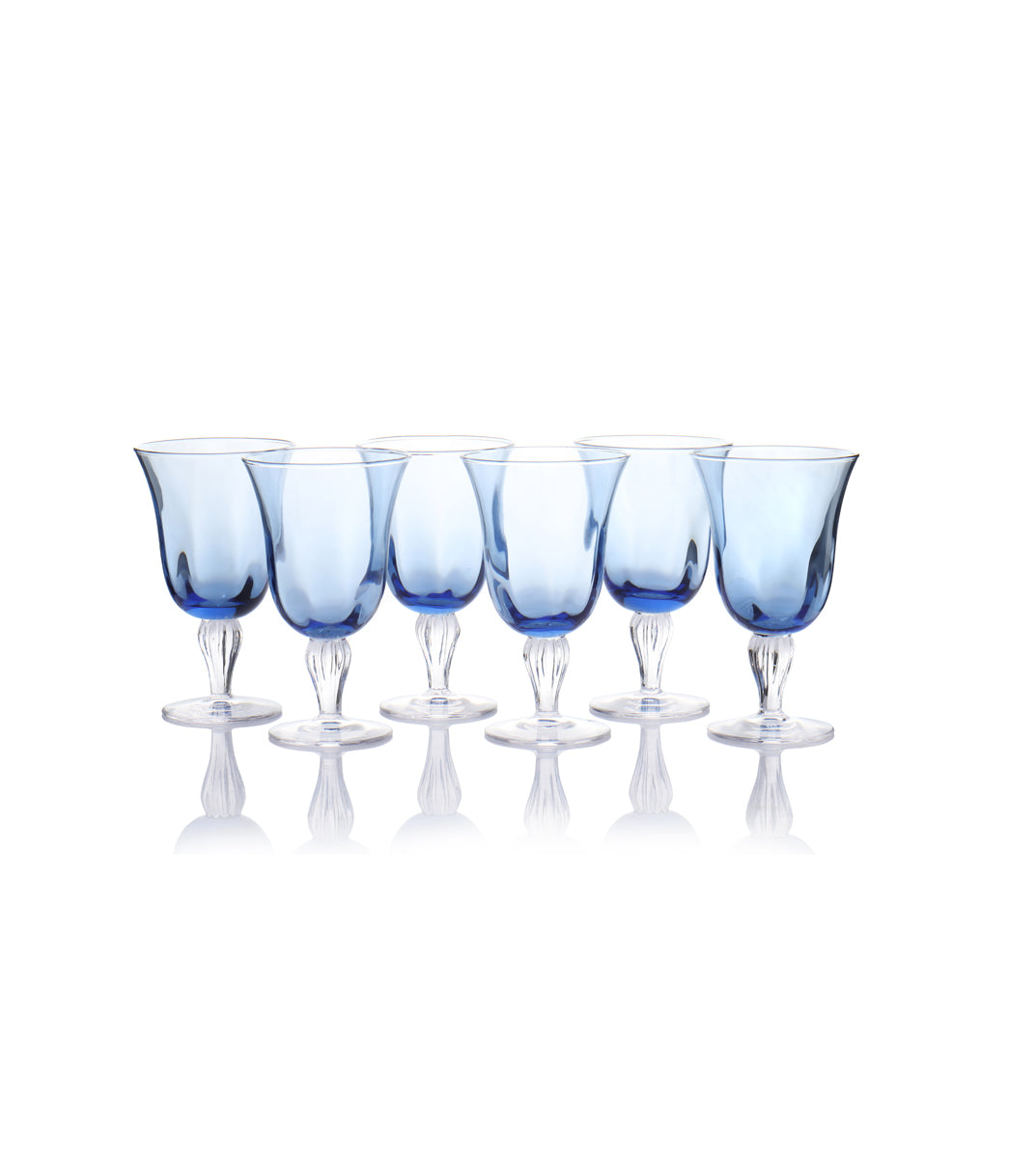 Jaspal Irob Blue Goblet Set of 6
