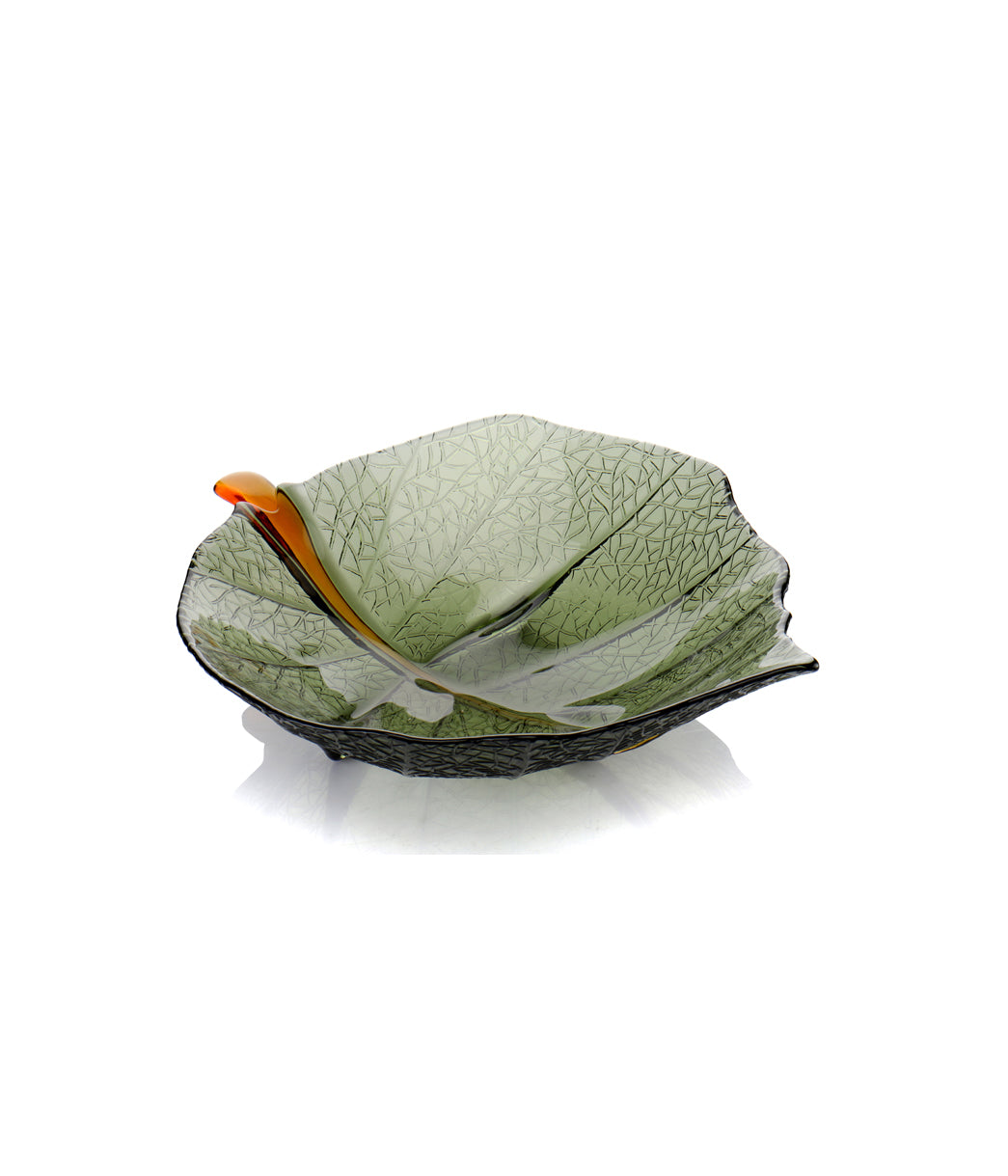 Glass Leaf Bowl Small