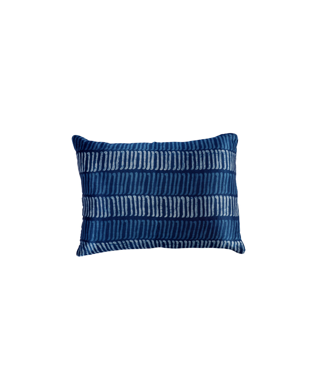 Dabu Print Vertical Stripe Cushion
