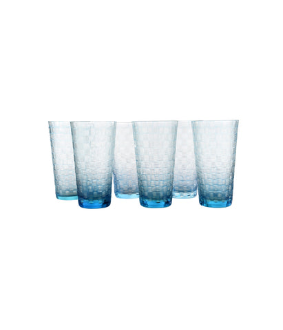 Interlock lines Water Glasses Set of 6