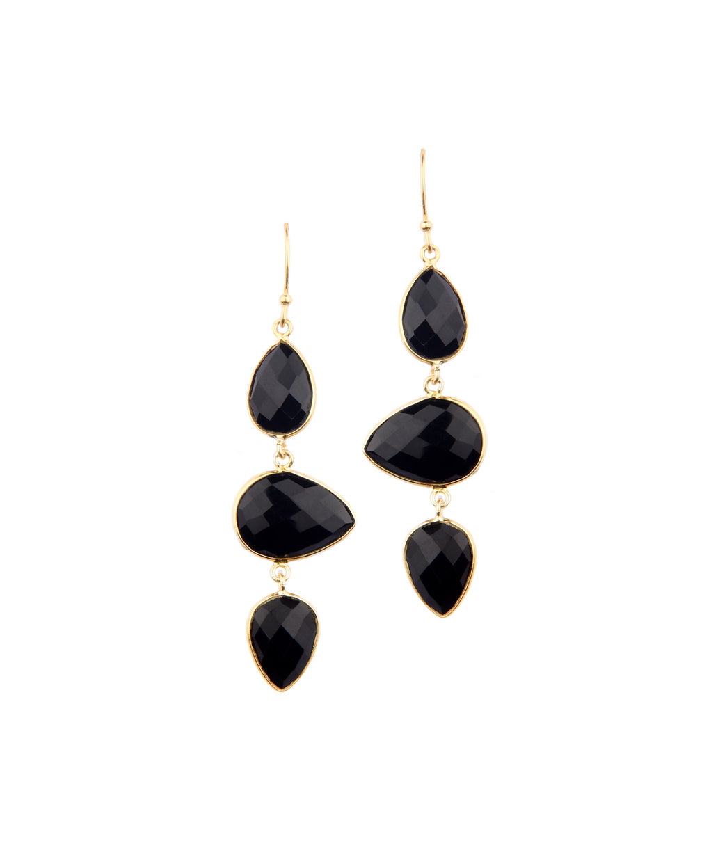 Lava Onyx Earrings