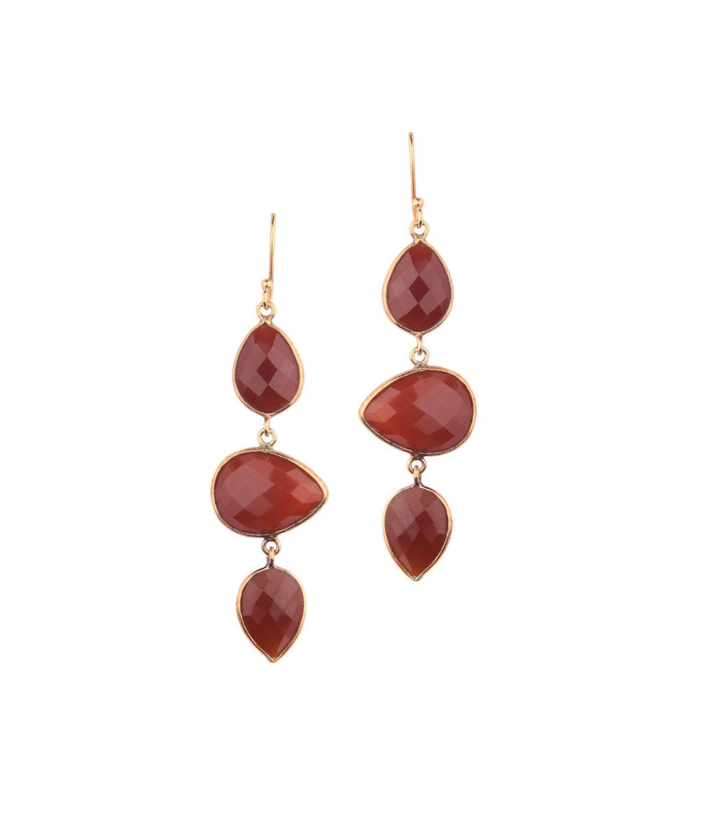 Posy Carnelian Earrings