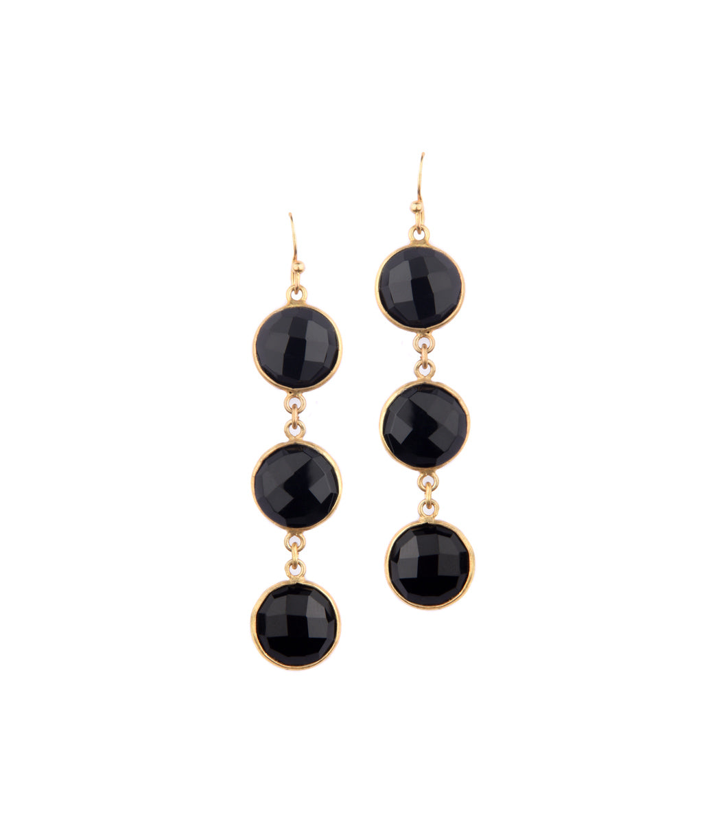 Sable Onyx Earrings