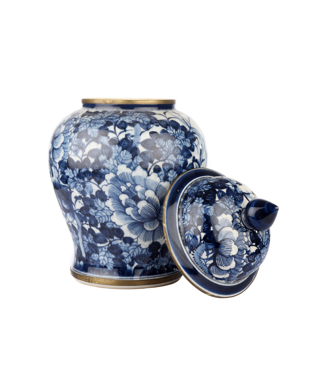 Temple jar dark blue