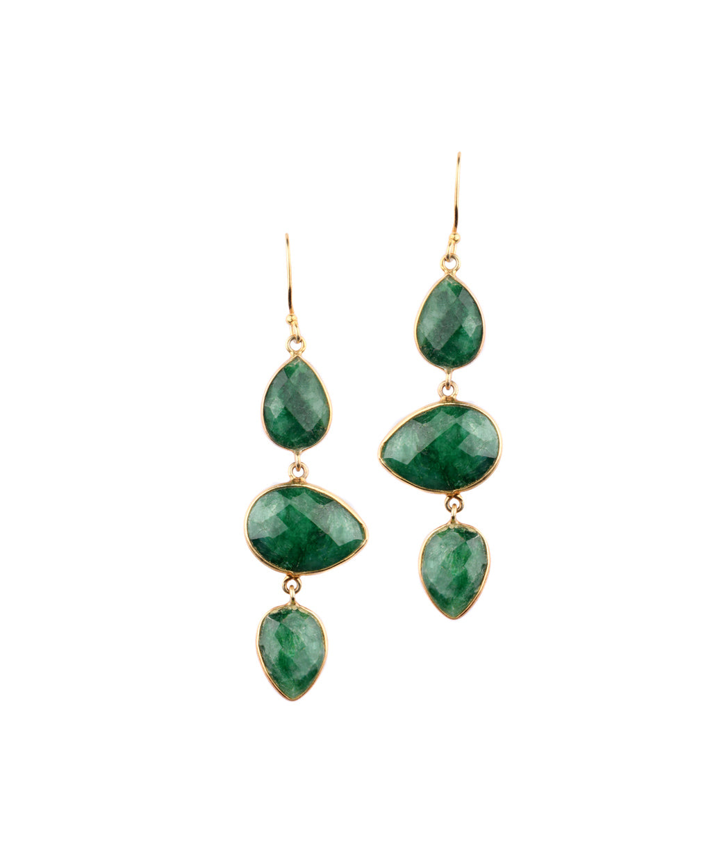Tinct Emerald Earrings