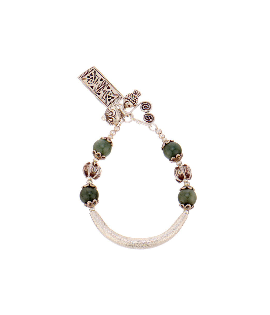 Tribal Gypsy Green Bracelet