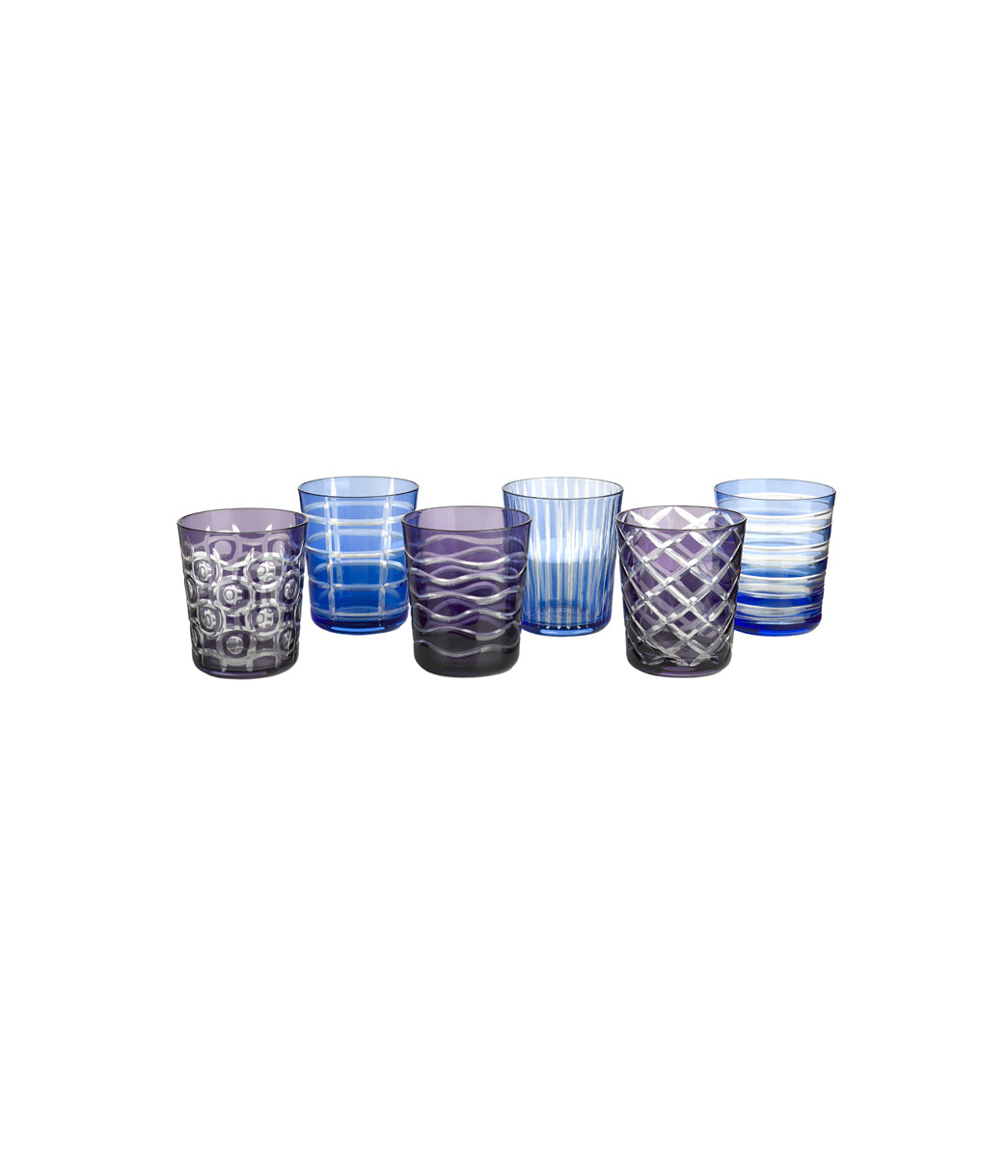 Tumbler cobalt Set of 6