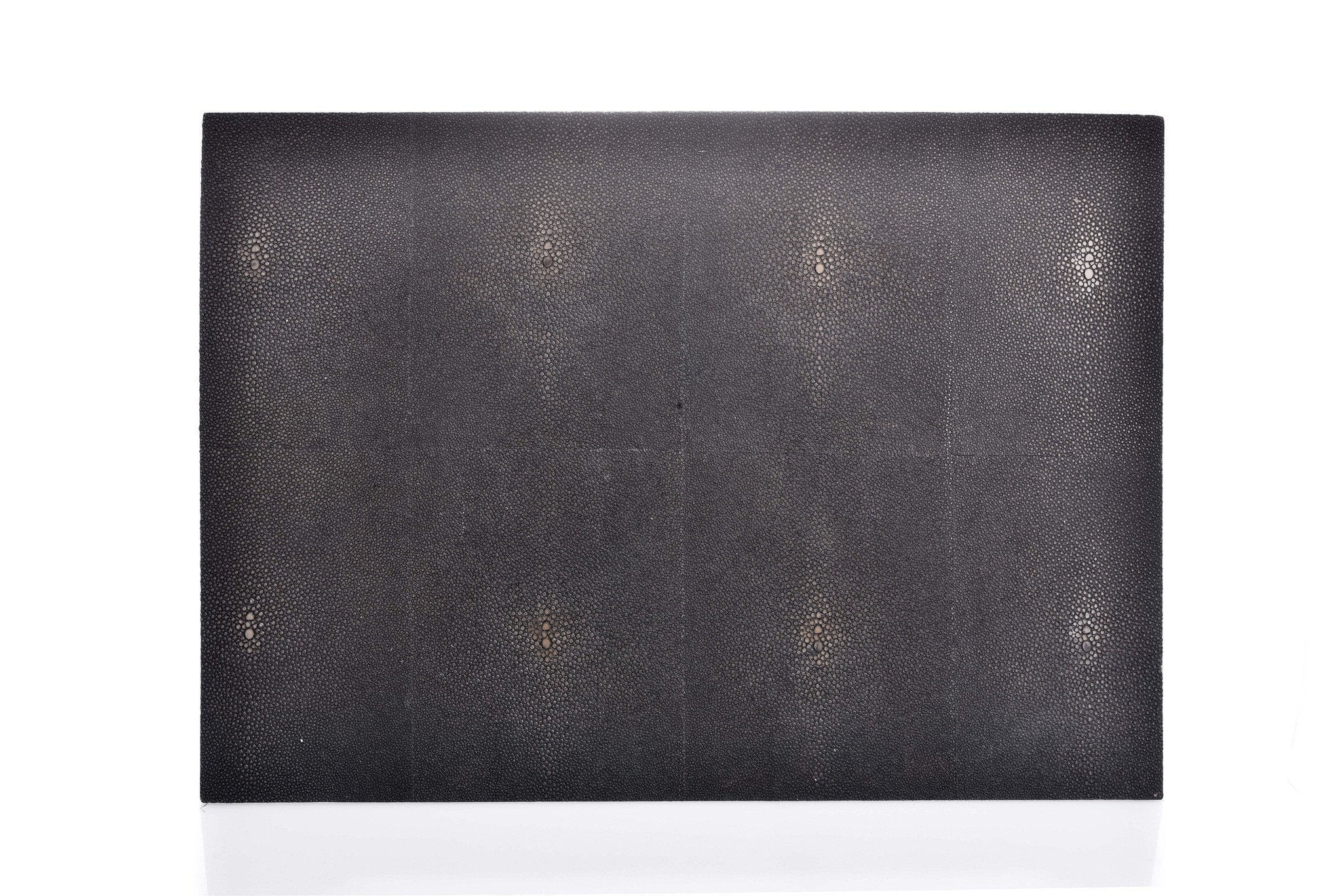 Black Rectangular Shagreen Place Mat