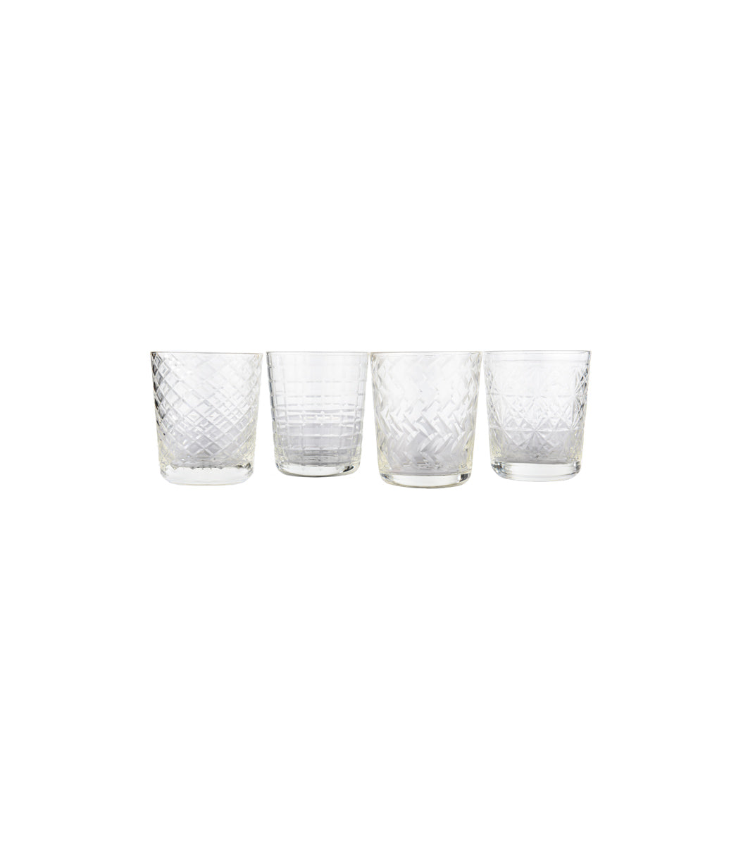 Water PP clear glass Set of 4