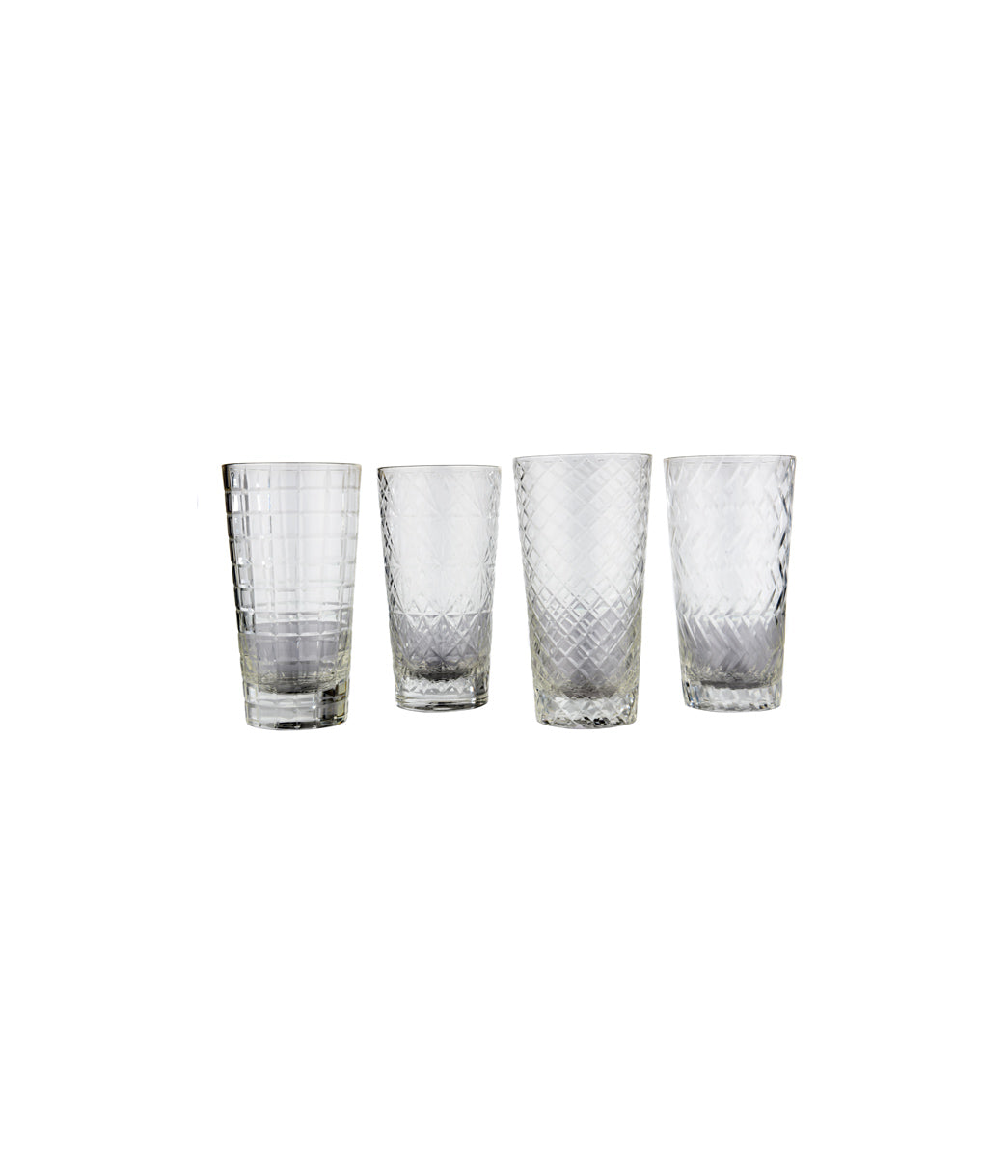 Water PP clear tumbler Set of 4
