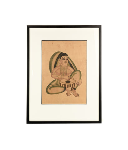 kalighat women with tabla