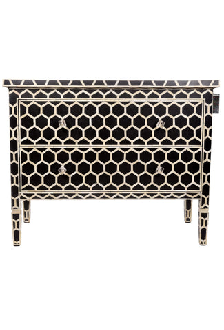 Honeycomb Chest of 2 Drawers